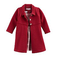 Toddler Girl Bonnie Jean Plaid Dress & Jacket Set