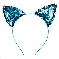 Girls 4-16 Flip Sequin Cat Ear Headband