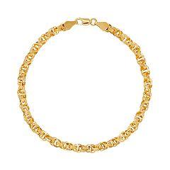 Everlasting Gold 14k Gold Circle Link Bracelet
