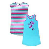 Girls 4-16 Jellifish Printed & Graphic Nightgown Set