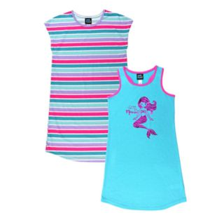 Girls 4-16 Jellifish Printed & Graphic Nightgown Set