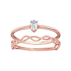 LC Lauren Conrad Twist Ring Set