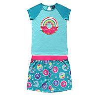 Girls 4-16 Jellifish Top & Shorts Pajama Set