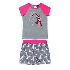 Girls 4-16 Jellifish Top & Shorts Pajama Set