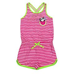 Girls 4-16 Jellifish Striped Sleep Romper