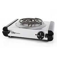 Elite Cuisine Stainless Steel Single Coiled Burner