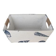 SONOMA Goods for Life™ Small Seashell Print Fabric Basket