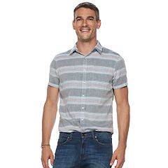 Men's SONOMA Goods for Life™ Modern-Fit Double Weave Button-Down Shirt