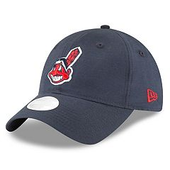Women's New Era Cleveland Indians 9TWENTY Linen Adjustable Cap
