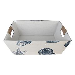 SONOMA Goods for Life™ Large Seashell Print Fabric Basket