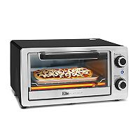 Elite Cuisine 4-Slice Stainless Steel Toaster Oven & Broiler