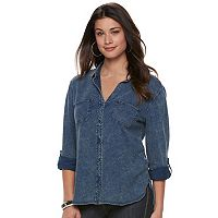 Women's Rock & Republic® Cuffed Shirt