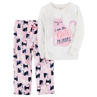 Baby Girl Carter's 2-pc. Printed Top & Fleece Pants Pajama Set