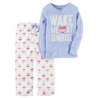 Baby Girl Carter's 2-pc. Printed Top & Fleece Pants Pajama Set