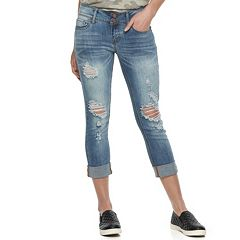 Juniors' SO® Cuffed Crop Jeggings
