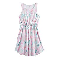 Girls 7-16 SO® Chest Pocket Patterned Dress