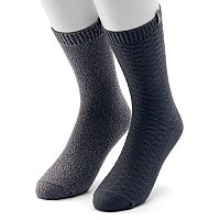 Men's Avalanche 2-pack Waffle-Weave and Textured Casual Crew Socks