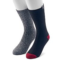 Men's Avalanche 2-pack Marled Solid and Colorblock Casual Crew Socks