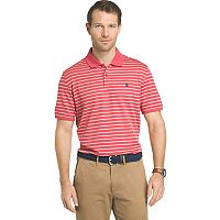 Big & Tall IZOD Sportflex Classic-Fit Feeder-Striped Performance Polo