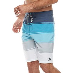 Men's Trinity Collective Quadrant Modern-Fit Engineer Striped Board Shorts