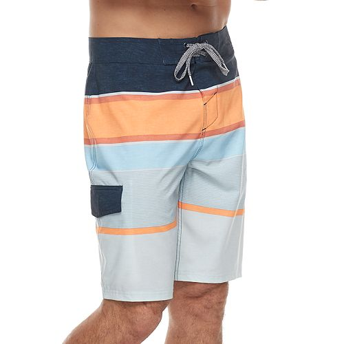 2380896f5c Men's Trinity Collective Quadrant Modern-Fit Engineer Striped Board Shorts