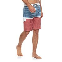 Men's Trinity Collective Bandalier Modern-Fit Americana Board Shorts