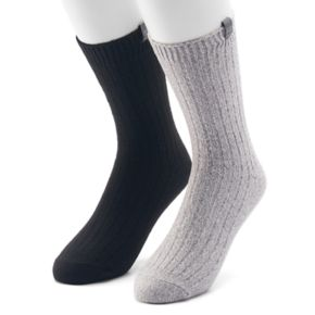Men's Avalanche 2-pack Marled Solid Casual Crew Socks