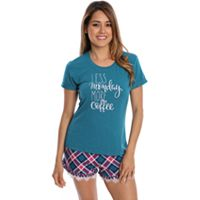 Juniors' Wallflower Pajamas: Graphic Sleep Tee & Short Set