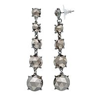 Simply Vera Vera Wang Faceted Nickel Free Graduated Linear Earrings