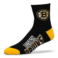 Adult For Bare Feet Boston Bruins Team Color Quarter-Crew Socks