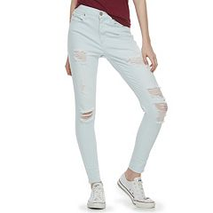 Juniors' Mudd® Destructed Jeggings
