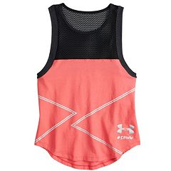 Girls 7-16 Under Armour She Plays We Win Fashion Tank Top