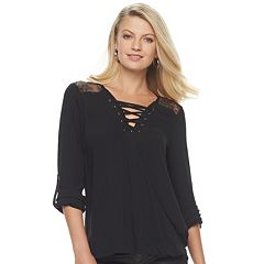 Women's Rock & Republic® Strappy Lace Top