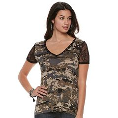Women's Rock & Republic® Embellished Lace Tee