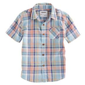 Boys 4-7x SONOMA Goods for Life? Plaid Button Down Short Sleeve Shirt