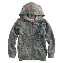 Boys 4-7x SONOMA Goods for Life™ Marled 'Great White' Shark Zip Hoodie
