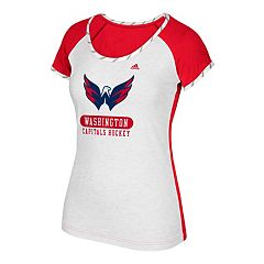 Women's adidas Washington Capitals Constructed  Short-Sleeve Tee