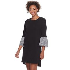 Juniors' Lily Rose Bell Sleeve Sweater Dress