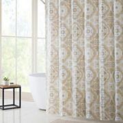 VCNY Alma PEVA Shower Curtain, Bath Rug & Hook Set