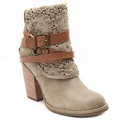 sugar Puzzled Women's High Heel Ankle Boots