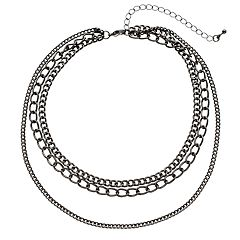 Mudd® Multi Strand Chain Choker Necklace