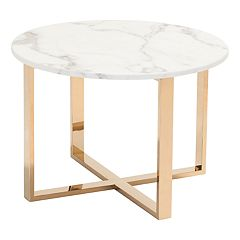 Zuo Modern Round Faux Marble End Table