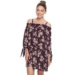 Juniors' Lily Rose Daisy Off the Shoulder Shift Dress