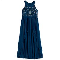 Girls 7-16 My Michelle Jewel Bodice Maxi Dress