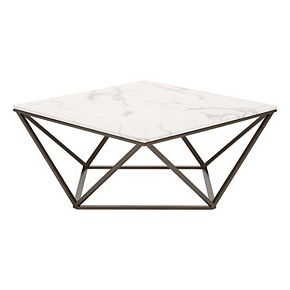 Zuo Modern Tintern Geometric Faux Marble Coffee Table Null - Geometric marble coffee table