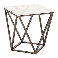 Zuo Modern Tintern Geometric Faux Marble End Table