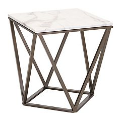 Zuo Modern Tintern Geometric Faux Marble End Table