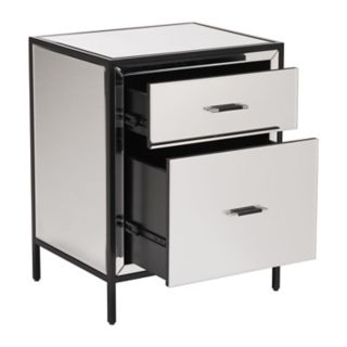 Zuo Modern 2-Drawer Mirrored End Table