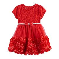 Toddler Girl Nannette Rosette Floral Lace Dress