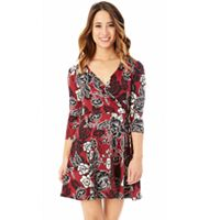 Juniors' IZ Byer Floral Faux Wrap Dress